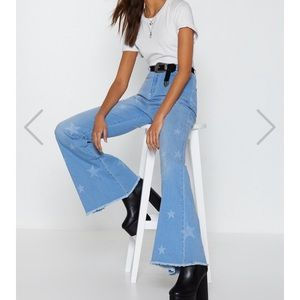 New nasty gal high waisted flare/bell bottom jeans